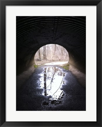 Framed D&R Canal Towpath Tunnel photo Print