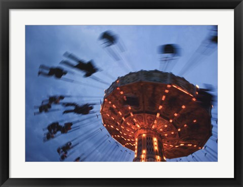 Framed Sky Ride III Print