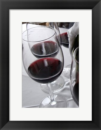 Framed Glasses of Red Wine Print