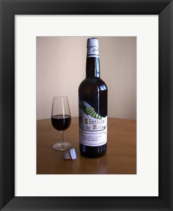 Framed Tintilla Wineskin Bottle Print