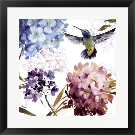 Framed Spring Nectar Square III Print