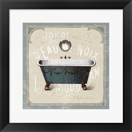 Framed Parisian Bath IV Print