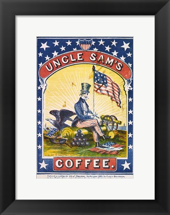 Framed Uncle Sam's Coffee Print