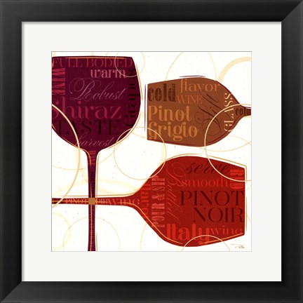 Framed Colorful Wine II Print