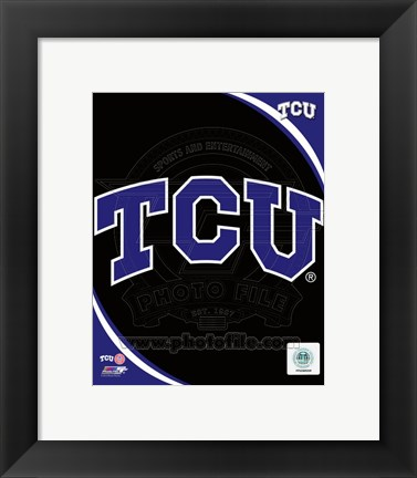 Framed Texas Christian University Horned Frogs Team Logo Print