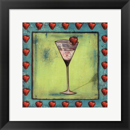 Framed Strawberry Coctelito Print