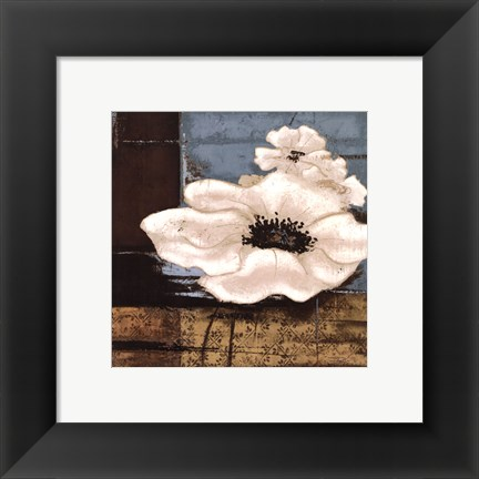 Framed White Poppies II Print