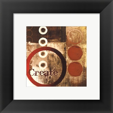 Framed Create (Red) Print
