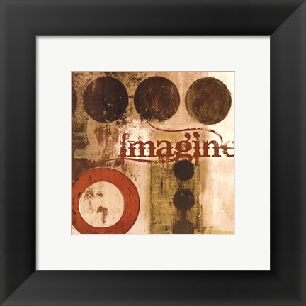 Framed Imagine (Red) Print