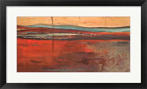 Framed Red Horizon II Print