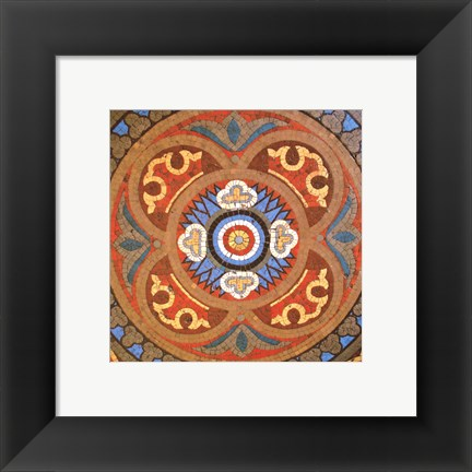 Framed Baroque Tiles I Print