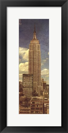 Framed Empire State Building, Circa 1950 Print