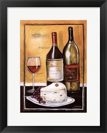 Framed Wine Notes II Print