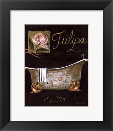 Framed Tulipa Bath - mini Print