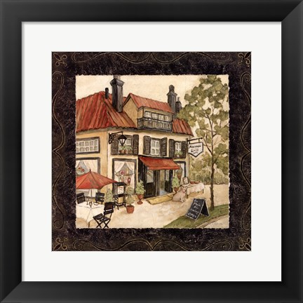 Framed Quaint Cafe II Print