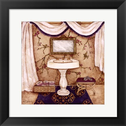 Framed Purple Passion Sink I Print