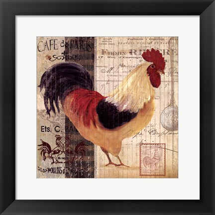 Framed Cockerel I Print