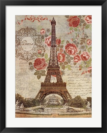 Framed Dreaming Of Paris Print