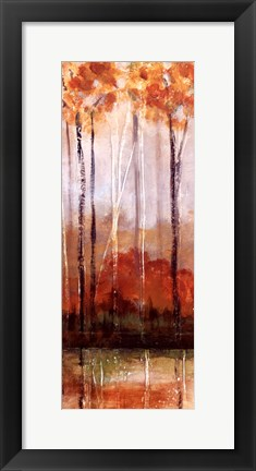 Framed Treeline Panel II Print
