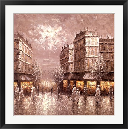 Framed City of Light Print