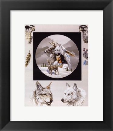 Framed Born Hunters Print