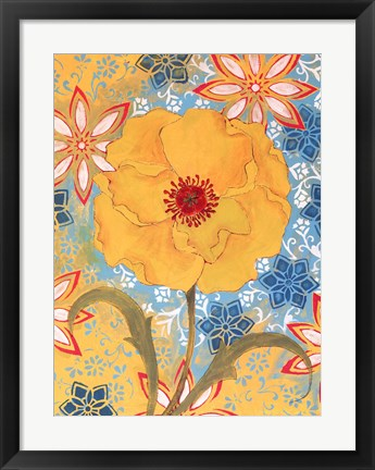Framed Sunrise Poppy Print