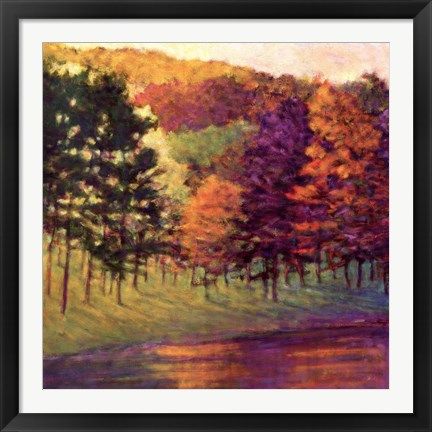 Framed Colors at the Lake Print