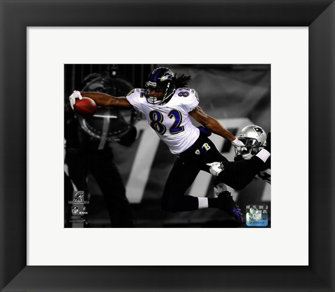 Framed Torrey Smith Touchdown AFC Championship Game Spotlight Action Print