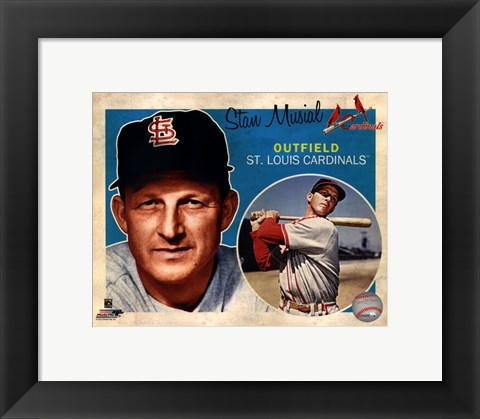 Framed Stan Musial 2012 Studio Plus Print