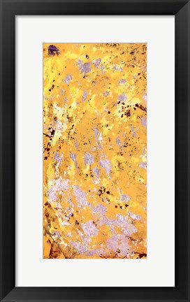 Framed Silvery Yellow I Print