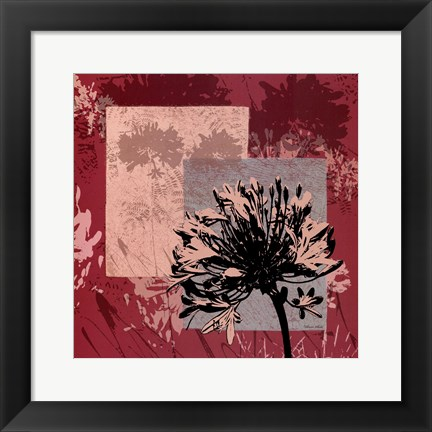 Framed Abstract Agapanthus II Print
