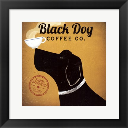 Framed Black Dog Coffee Co Print