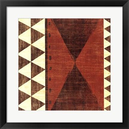 Framed Patterns of the Savanna II Print