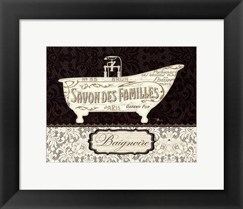 Framed French Lace II Print