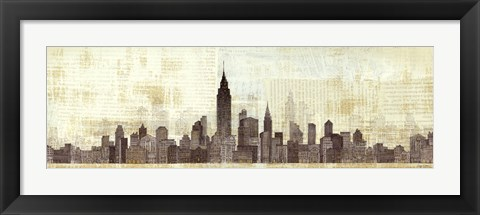Framed Empire Skyline Print