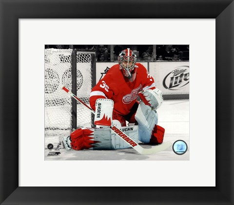 Framed Jimmy Howard 2011-12 Spotlight Action Print