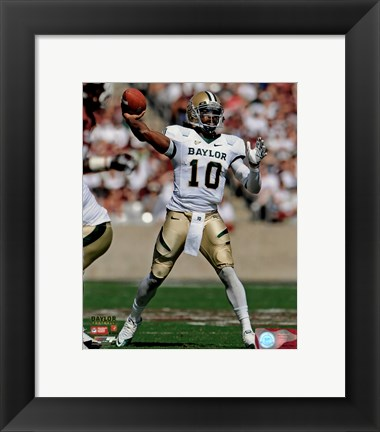 Framed Robert Griffin III Baylor University Bears 2011 Action Passing Print