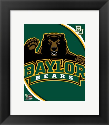 Framed Baylor University Bears 2012 Logo Print