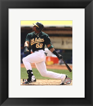 Framed Yoenis Cespedes 2012 Action Print