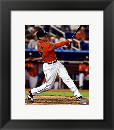 Framed Giancarlo Stanton 2012 Action Print