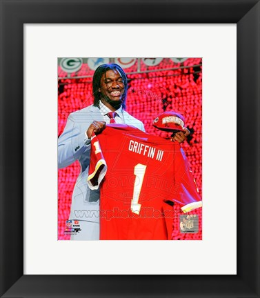 Framed Robert Griffin III 2012 NFL Draft #2 Draft Pick Print
