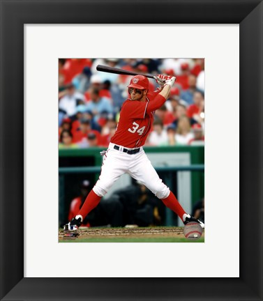 Framed Bryce Harper 2012 batting Print