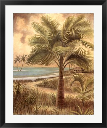 Framed Island Palm II Print