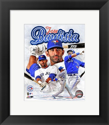 Framed Jose Bautista 2012 Portrait Plus Print