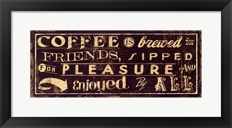 Framed Coffee Quote IV Print