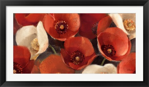 Framed Poppies Bloom I Print