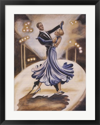 Framed Dancers I (Blue) Print