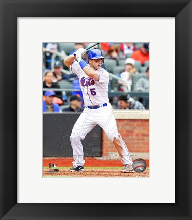 Framed David Wright 2011 Action Print