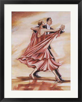 Framed Dancers II (Red) Print