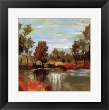 Framed Hidden Pond Hues I Print